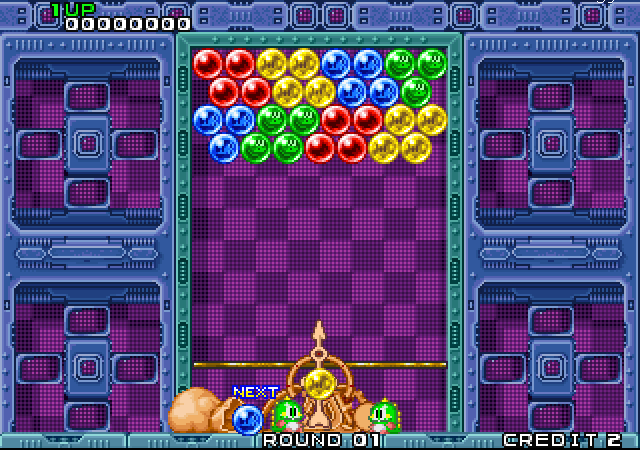 Puzzle Bobble - первые шарики стрелялки на приставках