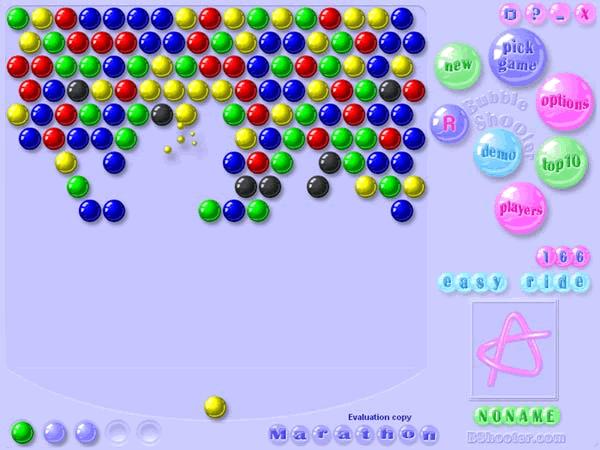 Bubble Shooter - первые шарики стрелялки на PC