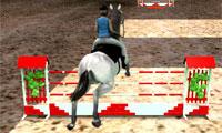 Скачки на лошадях 3D