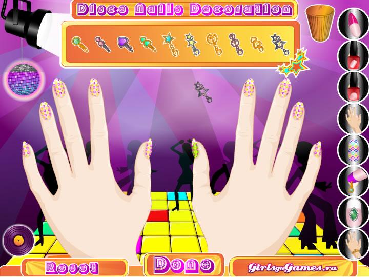 Украшение ногтей для дискотеки