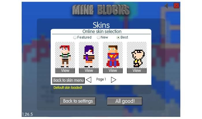 Галерея популярных скинов Mine Blocks