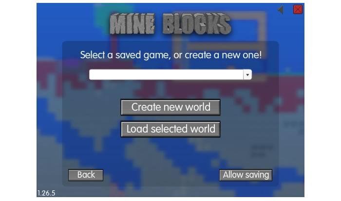 Создаем новый мир Mine Blocks