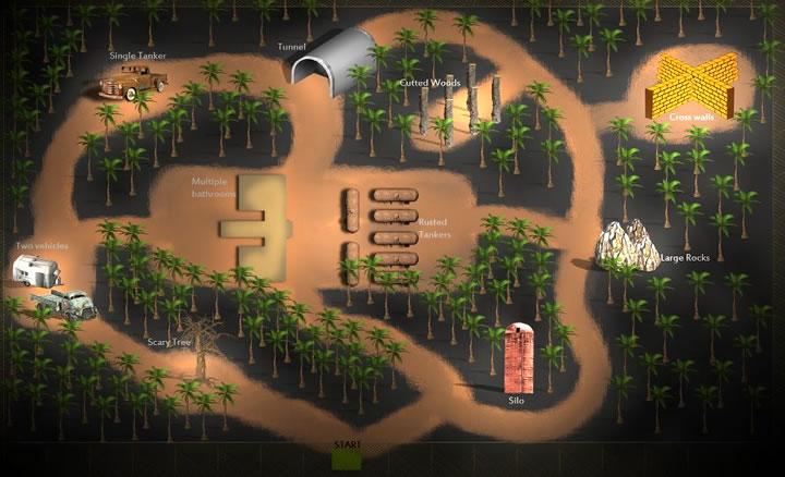 Карта игры Слендер