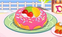 Украшаем пончик Донат