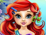 Реальный парикмахер: малышка Ариэль