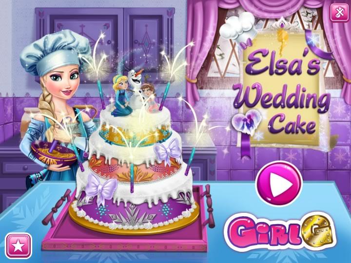 Эльза учит выпекать и украшать торт