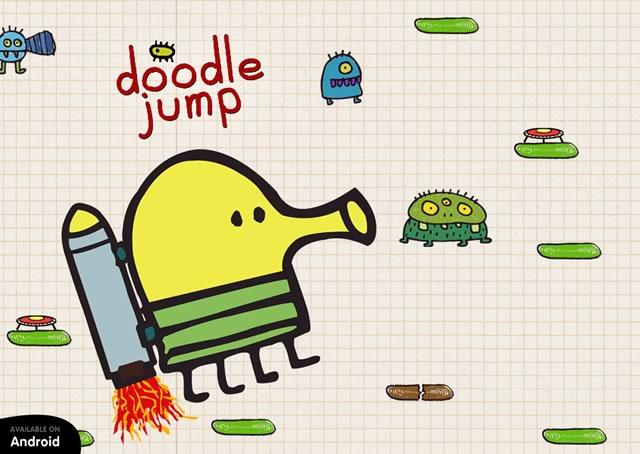 Знаменитая игра с планшетов и телефонов - Doodle Jump