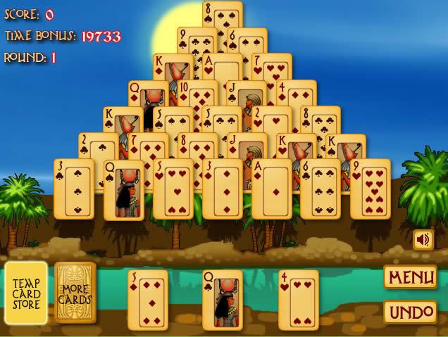 пасьянс Египетская Пирамида можно играть абсолютно бесплатно