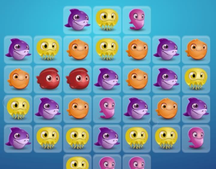 Jewel Aquarium игра с рыбками в жанре три в ряд