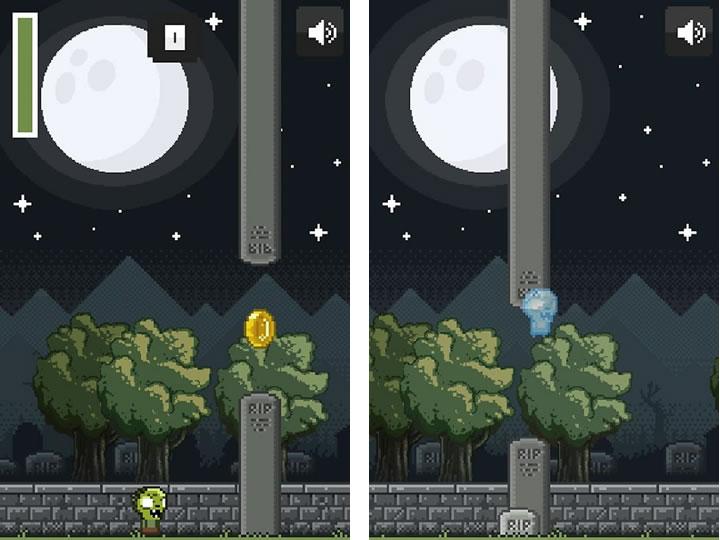 Зомби версия игры Flappy Bird