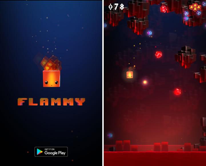 Флэмми - онлайн игра про огненный кубик